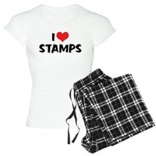 I Love Stamps 2 Pajamas