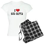 I Love Big Butts Women's Light Pajamas