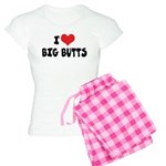I Love Big Butts Women's Light Pajamas