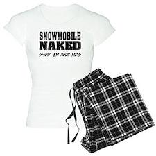 Snowmobile Naked Pajamas