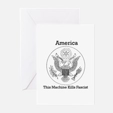 This Machine Kill Fascist Greeting Cards (Package