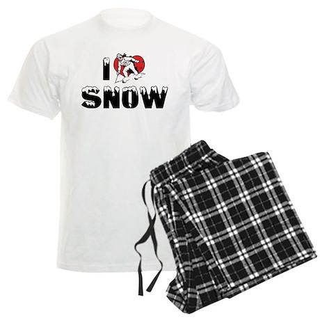 I Love Snow Men's Light Pajamas