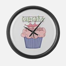 Cupcake Princess Large Wall Clock