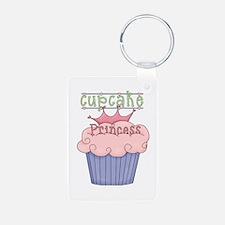 Cupcake Princess Keychains