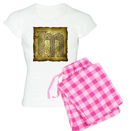 Celtic Letter M Women's Light Pajamas