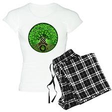 Circle Celtic Tree of Life Pajamas