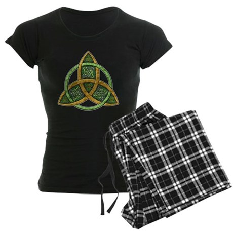 Celtic Trinity Knot Women's Dark Pajamas