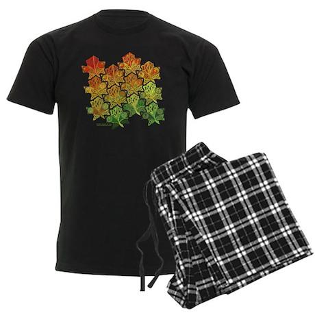 Celtic Leaf Tesselation Men's Dark Pajamas