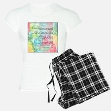Inspirational Goethe Quote Pajamas