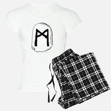 Norse Rune Mannaz Pajamas
