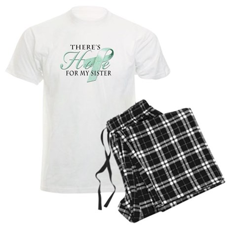 There's Hope for Ovarian Canc Men's Light Pajamas