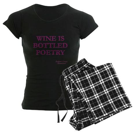 Wine Poetry Women's Dark Pajamas