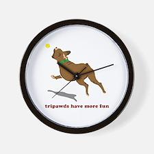 Tripawd Fun Boxer Wall Clock
