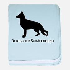 Deutscher Schaferhund baby blanket