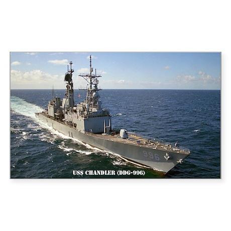 USS CHANDLER Sticker (Rectangle)