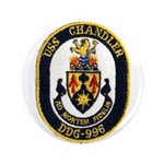 "USS CHANDLER 3.5"" Button"