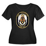 USS CHANDLER Women's Plus Size Scoop Neck Dark T-S