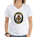 USS CHANDLER Women's V-Neck T-Shirt