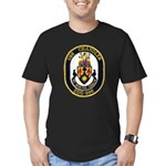 USS CHANDLER Men's Fitted T-Shirt (dark)