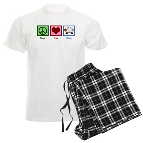 Peace Love Sheep Men's Light Pajamas