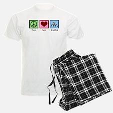 Peace Love Wrestling Pajamas