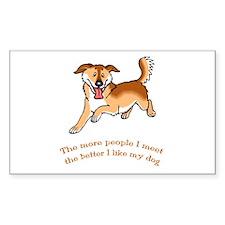 I Like My Dog Rectangle Decal
