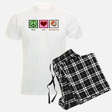 Peace Love Thanksgiving Pajamas