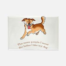 I Like My Dog Rectangle Magnet