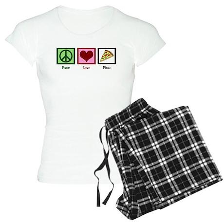 Peace Love Pizza Women's Light Pajamas