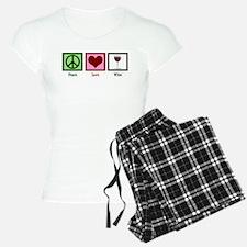 Peace Love Wine Pajamas