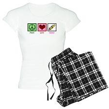 Peace Love Candy pajamas