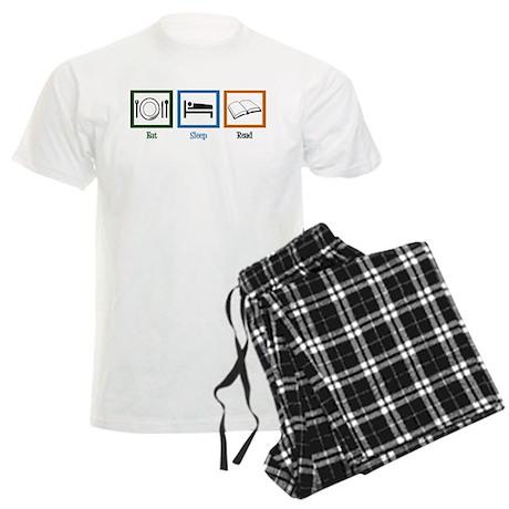 Eat Sleep Read Men's Light Pajamas