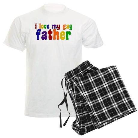 I Love My Gay Father Men's Light Pajamas