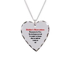 Sheldon's Reasons to Cry Necklace