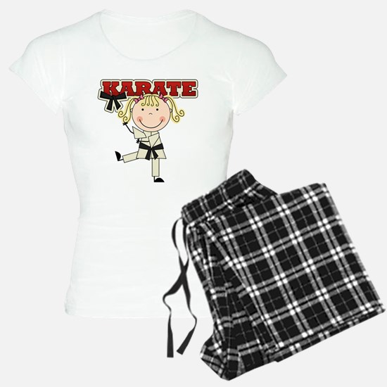 Blond Girl Karate Kid pajamas