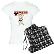 Blond Boy Karate Kid pajamas