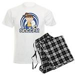Girls Soccer Men's Light Pajamas