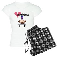 Girl Gymnast Handstands Pajamas
