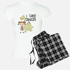 Girl I Like Dinos Pajamas