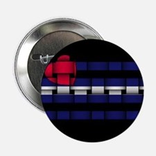 "LEATHER PRIDE WOVEN LOOK FLAG 2.25"" Button (10 pac"