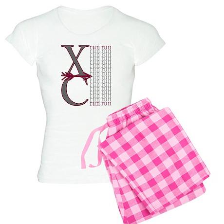 XC Run Maroon Grey Women's Light Pajamas