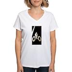 Bicycling Women's V-Neck T-Shirt