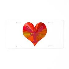 Lobster Love Aluminum License Plate