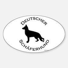 Deutscher Schaferhund Sticker (Oval)