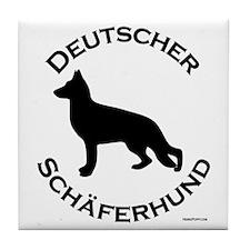 Deutscher Schaferhund Tile Coaster
