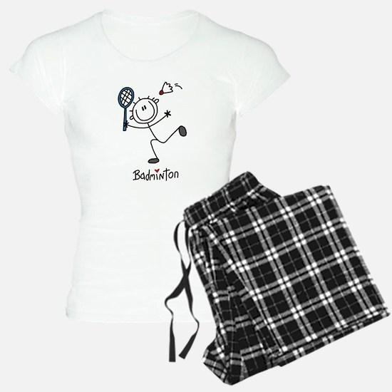 Stick Figure Badminton pajamas