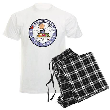 I Love Scrapbooking Men's Light Pajamas