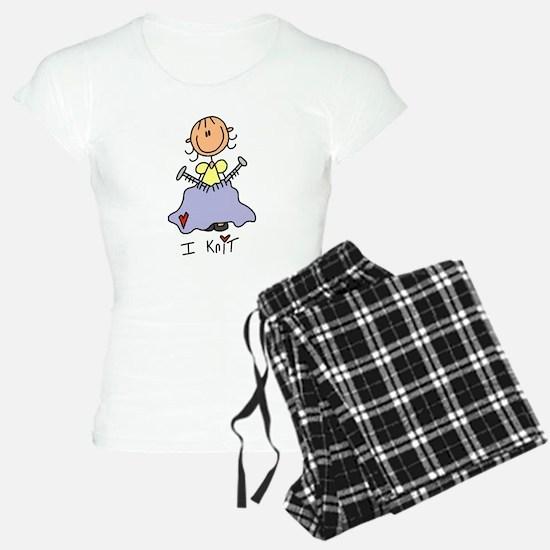 I Knit Stick Figure Pajamas