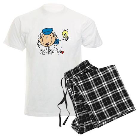 Female Electrician Men's Light Pajamas