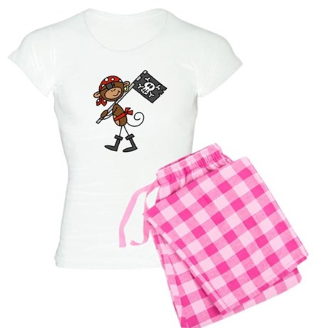 Pirate with Flag Women's Light Pajamas